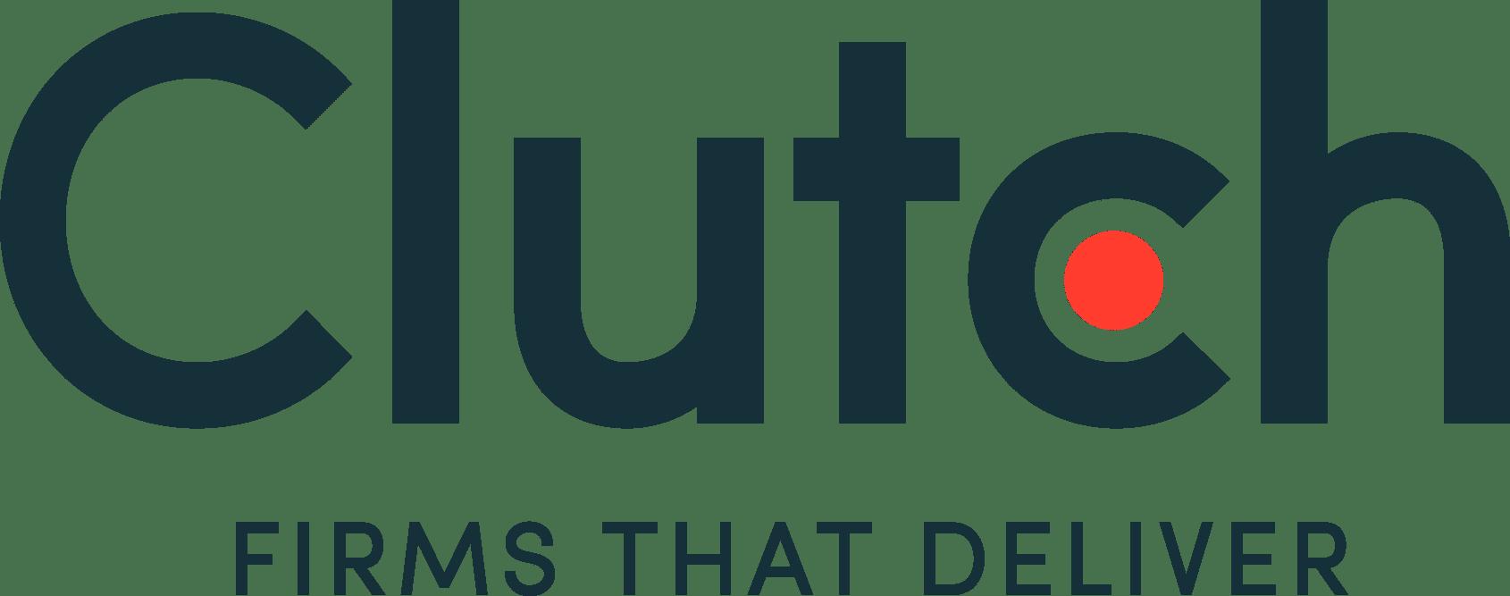 New Clutch Tagline logo